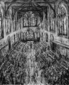 Radley College Chapel commission 150 x 200cms 2016